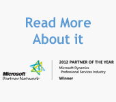 Read Microsoft Dynamics 2012 Partner of the Year Award Press Release